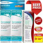 2x Sensease/Generic Nasonex + 1x Saline Spray + 50x Loratadine/Generic Claratyne) + Express Delivery = $39.99 @ PharmacySavings