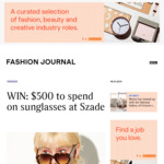 Win a Szade Sunglass Prize Pack Worth $500 from Fashion Journal