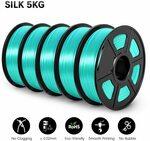 SUNLU Silk PLA for 3D Printing 1.75mm 2kg A$28.52 or 5kg A$69.91 @ ZHSUNLU Store AliExpress