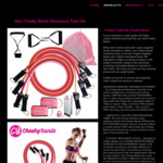 Resistance Band Set with Door Anchor, Ankle Straps & Gift $29.95 (Was $49.95) Delivered @ Cheekychickfitness