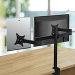 Dual Desk Mount Monitor Stand 2 Arm Bracket $29.99 (Was $38.49) Delivered @ Fullmark
