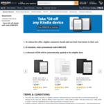 $50 off Any Kindle Device @ Amazon AU