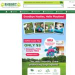 Kong Cozie Toy for Dog & Bonus Simparica Trio Sample $9 Shipped @ Budget Pet Products