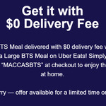 Free Delivery with $12.80 Minimum Spend (Service Fees Apply) @ McDonald's via Uber EATS