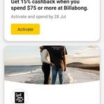 Commbank Rewards: Spend $75 and more, Get 15% Cashback @ Billabong and Surf Dive & Ski