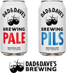Dad & Dave's 1x Cartons Pale, 1x Carton Pilsner (48x 375ml Cans) $100 (Was $147) Delivered @ Dad N Dave's Brewing