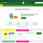 $20 off 365 Day Long Expiry Pre-Paid Phone Plan (Unlimited Call & Text, 145GB Data) $180 @ Woolworths Mobile (Online Only)
