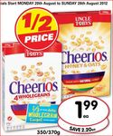 Uncle Toby's Cheerios 370g $1.99 at Franklins (save $2.20)