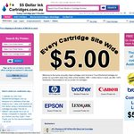 $2 Ink Cartridges Compatible Brother, Epson & Canon Ink Cartridges Just $2 Each + $8.65 Shipping