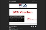Receive a FREE $20 Fila Voucher When You Update Your Details