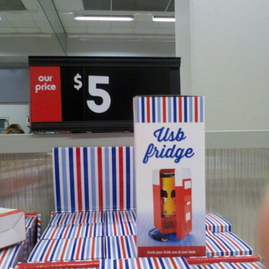Usb Fridge Red At Kmart For 5 Broadway Ctre Nsw Ozbargain