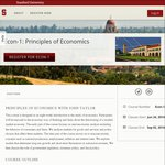 Principles of Economics : Online Courses @ Stanford University: