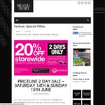 Priceline 20% off Storewide (at Brandsmart, Nunawading, VIC Store Only)