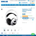 SteelSeries Siberia V2 $49 + Delivery ($2 Flat Rate Shipping or In-store pick up) @ Bing Lee