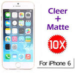 $1 10x Screen Protector Clear + Matte Gel PC Hard Case for iPhone 6 6 Plus Free Shipping @ eBay