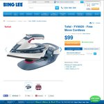 Tefal - FV9920 - Free Move Cordless 2400W Iron $99 at Bing Lee