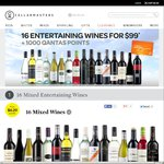 16 Mixed Entertaining Wines $99 +1000 Qantas Points + Free Delivery + 20% off @ Cellarmasters
