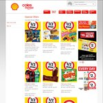 Coles Express 1/2 Price Specials: Red Rock Chips (90g) $1, Magnums $2, Shapes $2, Starburst Lolly Bags $2