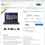 "Acer ES1-411-P2LF 14"" Notebook $297 Delivered @ Wireless1 (eBay Group Buy)"