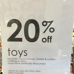 Myer - 20% off Toys in store and online