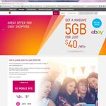 Telstra eBay Exclusive Plan $40/Month 5GB Data $1000 Call Credits - 12 Month Contract
