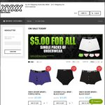 XYXX Underwear $5.00 For All Single Packs of Men's and Women's Underwear $2.00 Shipping Aust Wide
