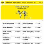 SCOOT FLASH SALE. EG. Perth to Singapore $109. Sydney to Ho Chi Minh City $283. Gold Coast to Chennai $219. One Way Fares