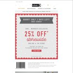25% off Full Priced Items for Members (Free) in Store or Online Kikki. K