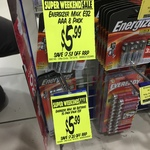 $5.99 Energizer AA Batteries 10 Pack @ My Chemist
