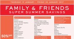 Myer Family and Friends Offer 40%-50% off Selected items (Fashion, Bedding and Homeware)