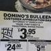 Customer Appreciation Day 11/3 Today: $3.95 Pizzas Pickup - Domino's (BULLEEN VIC)