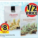 KB's Prawn or Vegetable Gyoza 750g $8 (Was $16) @ Coles Starts 5/4