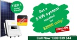 5kw System, 20x 250 Watt Solar Panels $3990 @ Go Green Home
