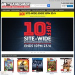 10% off All Stock at The Gamesmen