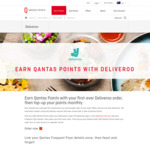 1,000 Qantas Points for First Time Deliveroo Order & Earn 200 Points Each Month (Min 4 Orders)