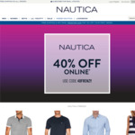 Nautica 40% off Online (Includes Sales Items) with Free Shipping