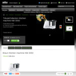 Braun TributeCollection Kitchen Machine KM 3050 $179.10(Was $599) Shipped @ Braun