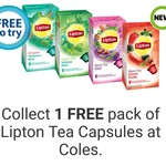 [Flybuys] Collect 1 Free Pack of Lipton Tea Capsules at Coles