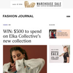 Win a $500 Elka Collective Online Voucher from Fashion Journal