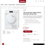 Miele TKB 350 WP 8KG TUMBLE DRYER - $1,399.00 Delivered, Save $600.00
