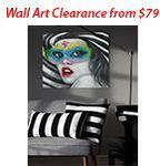 Wallart and Clearance Items from $79, Bar Stools $99 + Shipping or Free Pickup VIC @ Decorstore