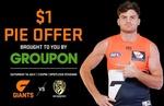 [NSW] $1 Pies at GWS V Richmond AFL Match at Spotless Stadium Sat 14/7 (via Groupon)