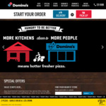 3 Traditional Pizzas + 3 Sides $34.95 Delivered (Code) @ Domino's