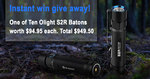 Instantly Win One of Ten Olight S2R Baton Torches Valued at $94.95 Each from Olight
