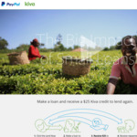Lend US$25 with Kiva, Get US$25 Kiva Credit to Lend Again (via PayPal)