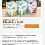 Free Mount Franklin 4 Pack Lightly Sparkling Water @ Woolworths (Woolworths Rewards Members)
