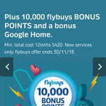 Flybuys + Optus $35 SIM Only Plan: Unlimited Calls & Text, 30GB Data, Some Intl Minutes + Google Home + 10,000 Flybuys Points