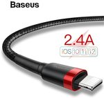 Baseus USB Lightning Cables '50% off': e.g. 0.5m Cable $1.49 USD (~ $2.11 AUD); 2M Cable $2.49 USD (~ $3.53 AUD) @ AliExpress