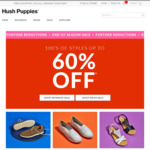 Hush Puppies 20% off, or Buy Two 30% off Already Discounted Prices
