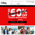 Further 25% off Sale Items @ Glue Store